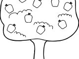 Apple Tree With Fallen Apples Coloring Page