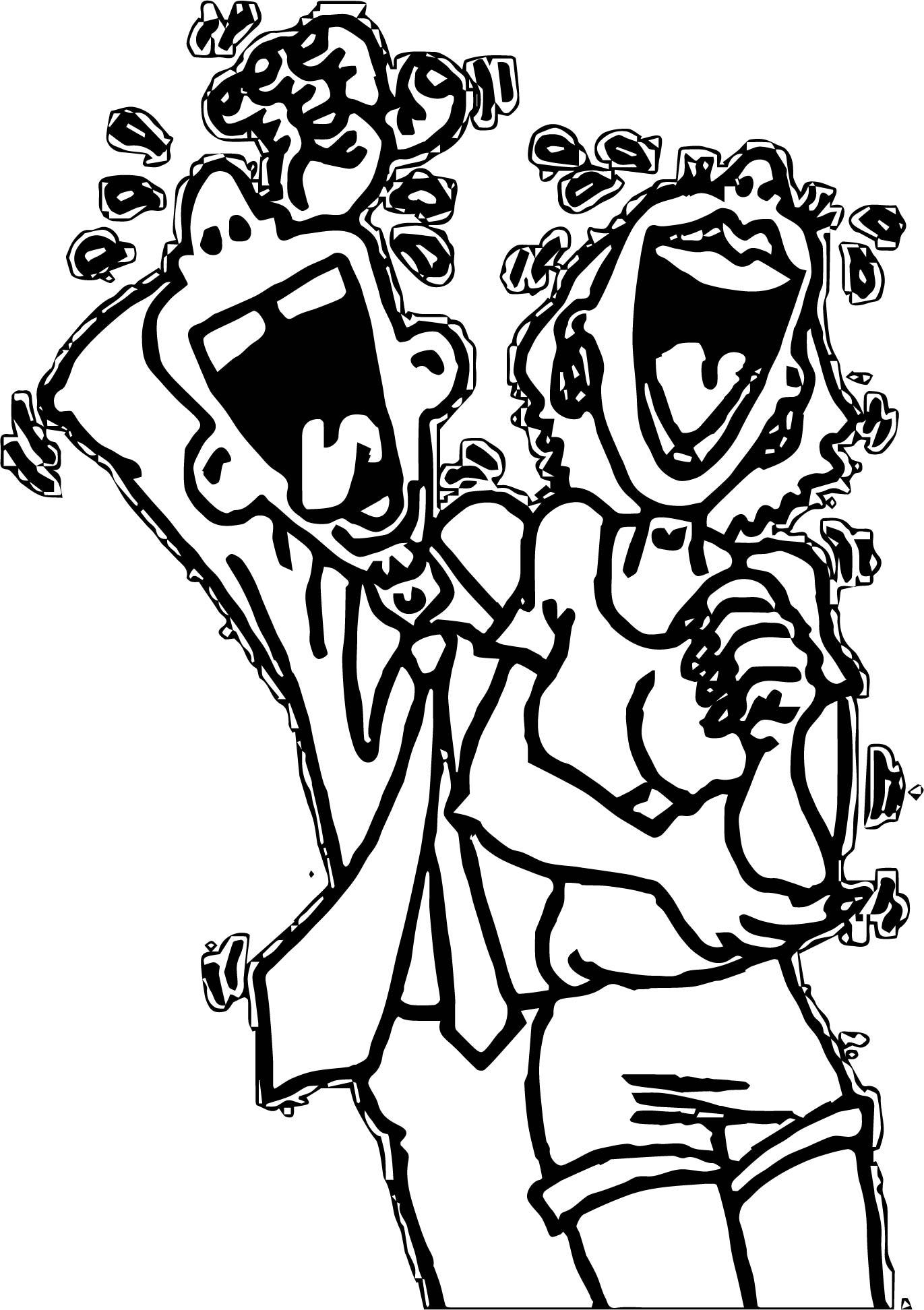 April Fool Laugh Coloring Page