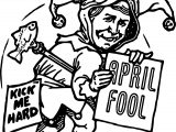 April Fool Man Coloring Page