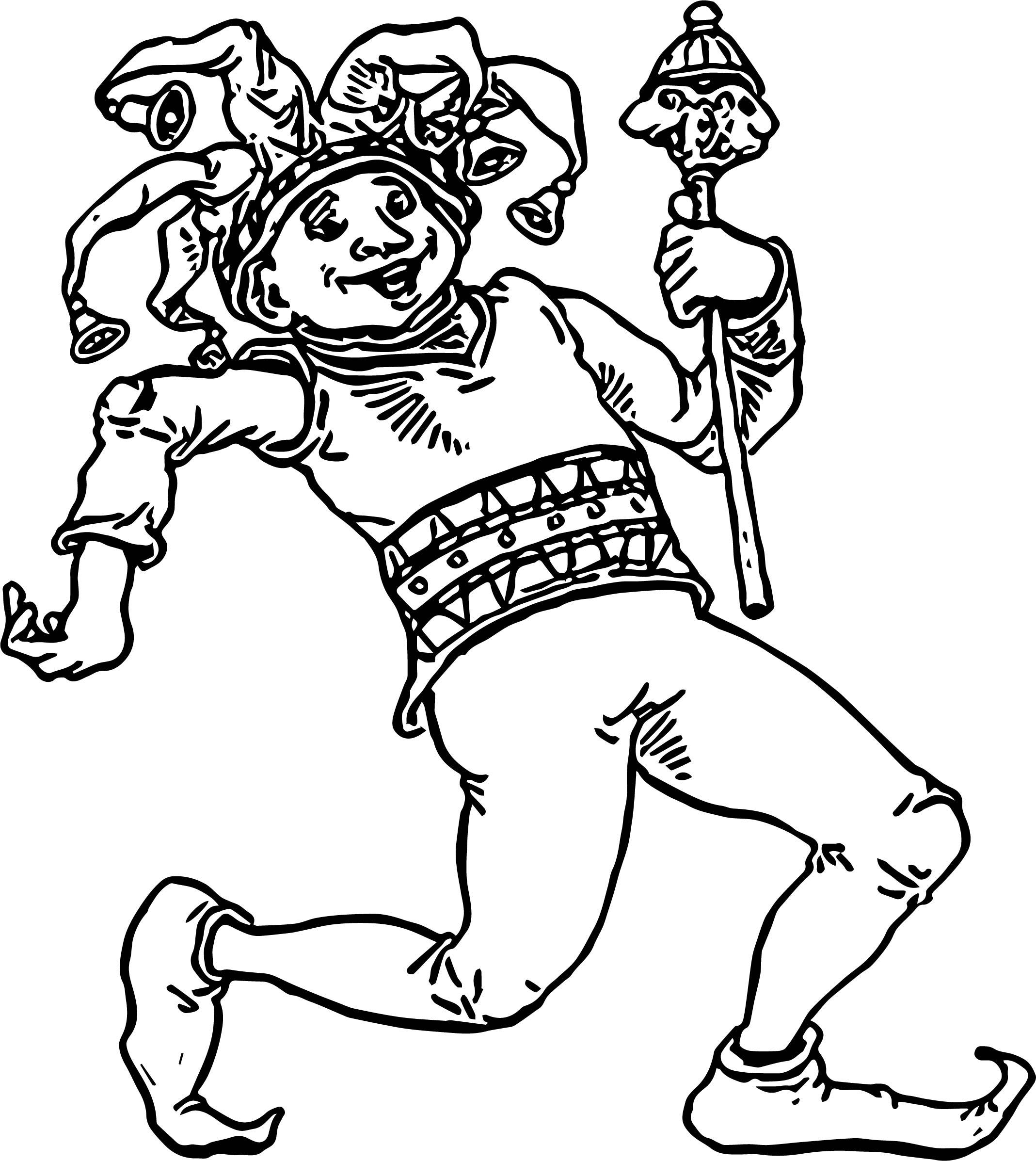 April Fool Man Walking Coloring Page