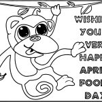 April Fool Monkey Coloring Page