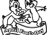 April Fool Squirrel Coloring Page