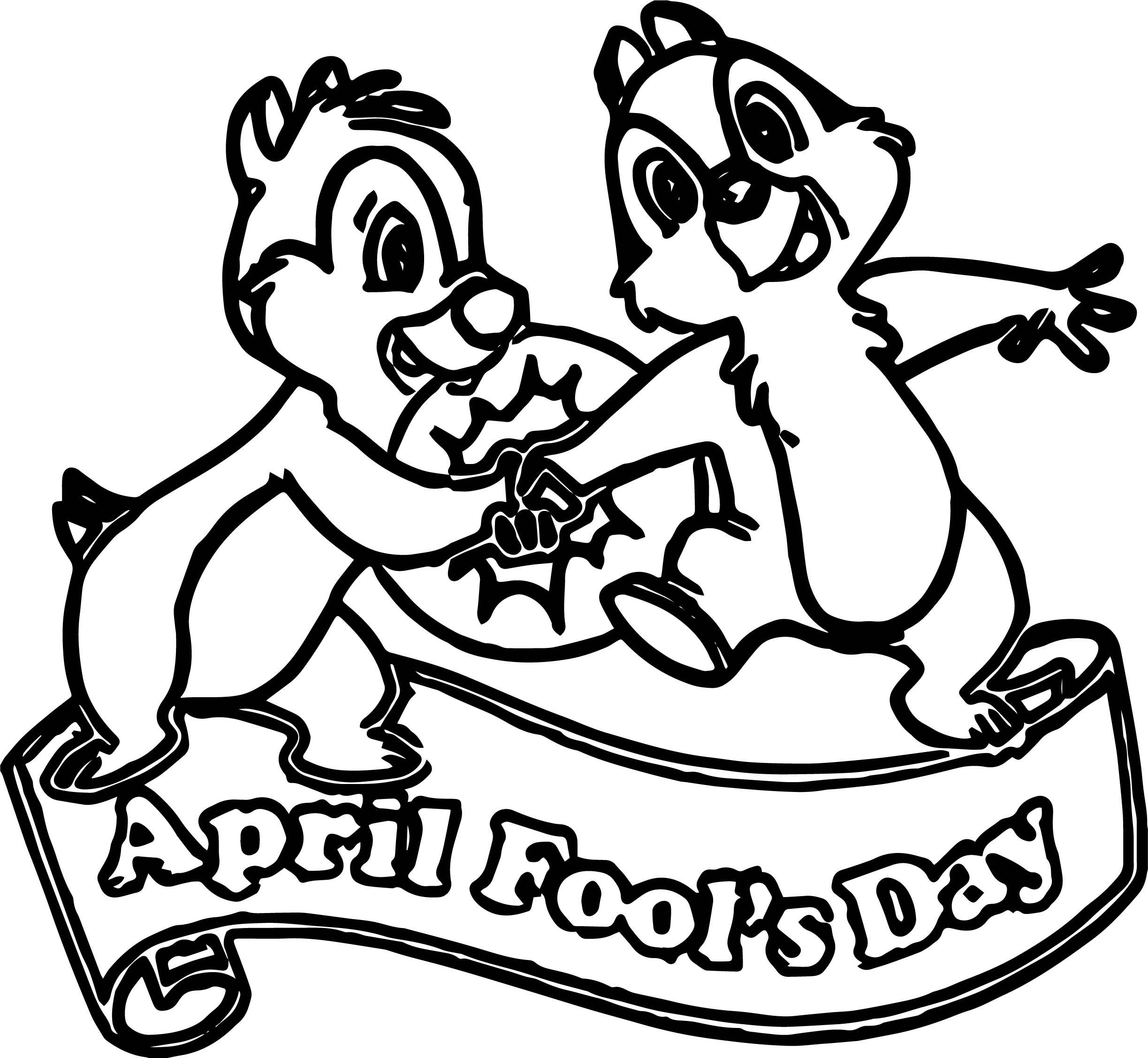 April Fool Squirrel Coloring Page