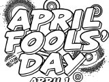 April Fool Text Coloring Page