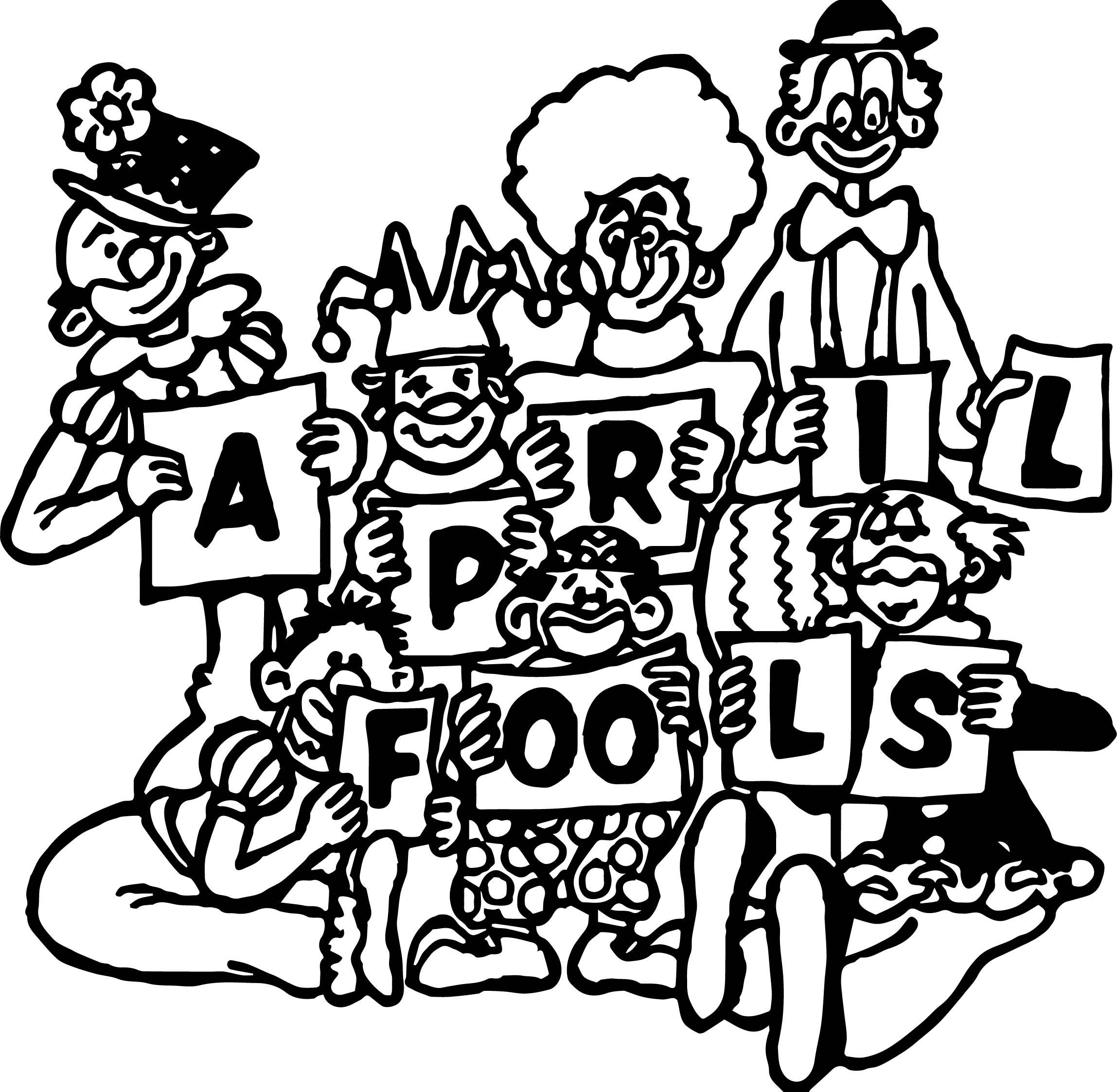 April Fools Coloring Page