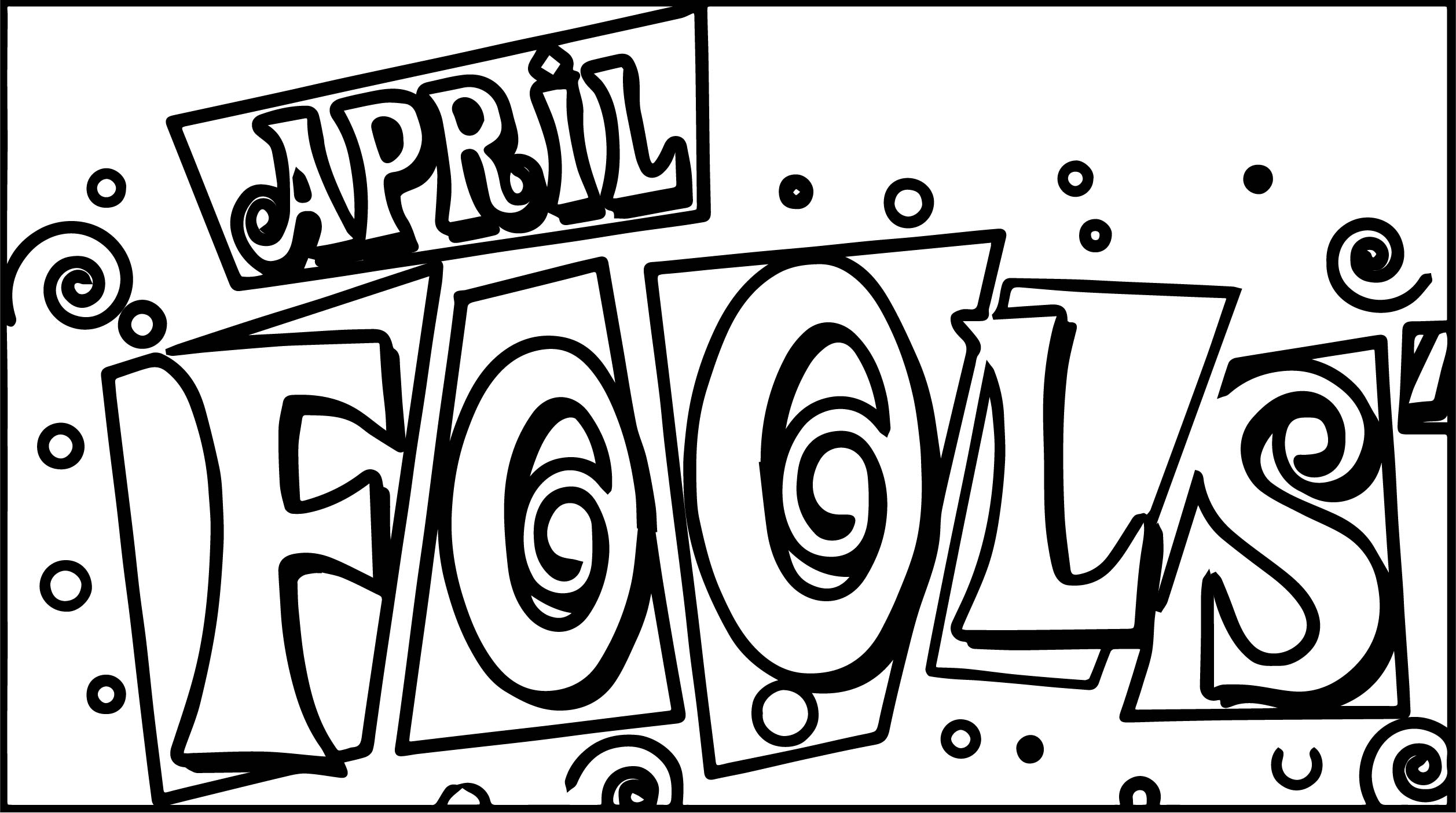 April Fools Text Coloring Page