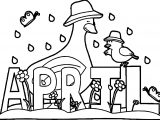 April Shower April Animals Coloring Page
