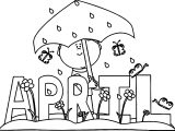 April Shower April Boy Coloring Page