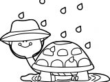 April Shower Turtle Coloring Page