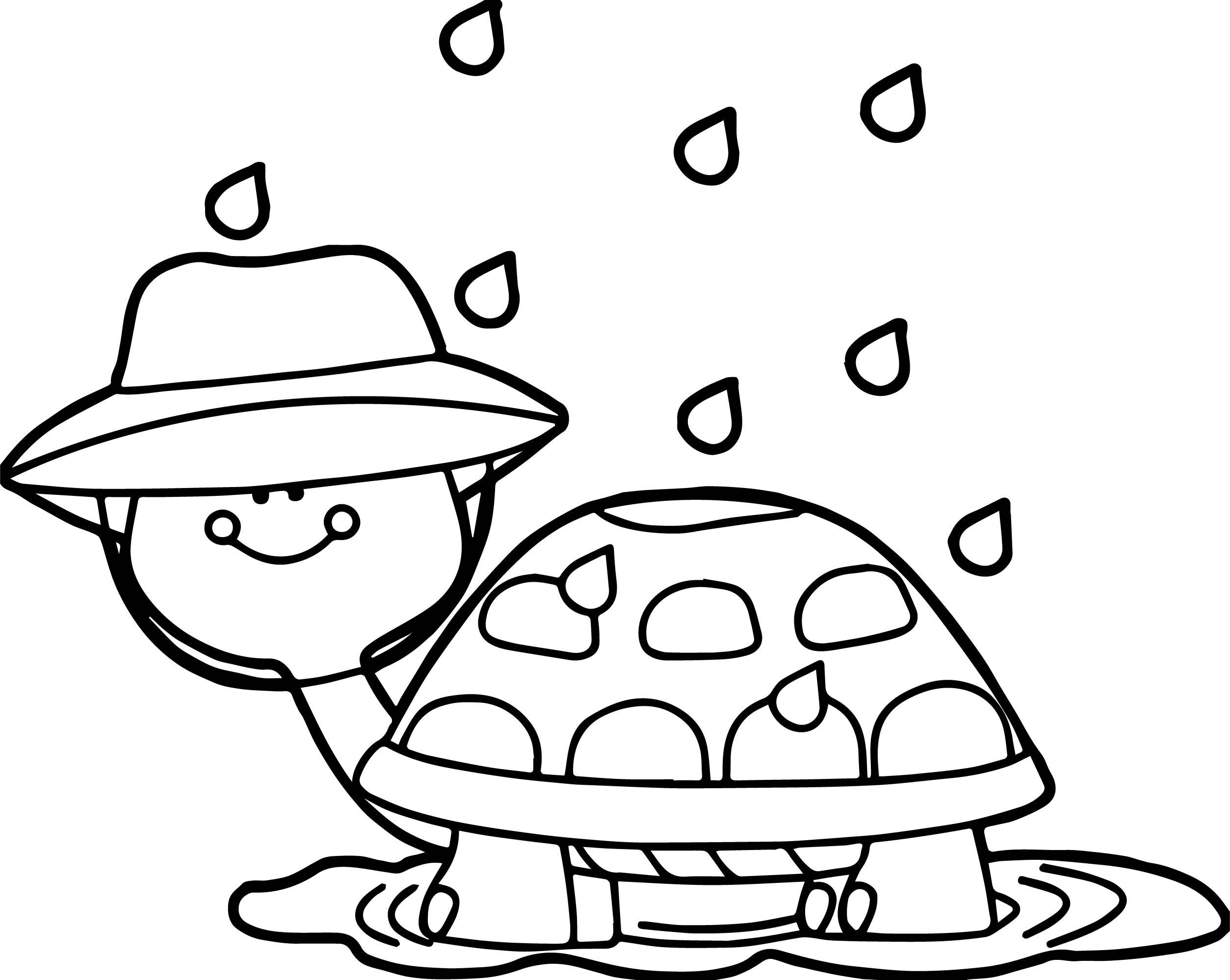 april shower turtle coloring page wecoloringpage