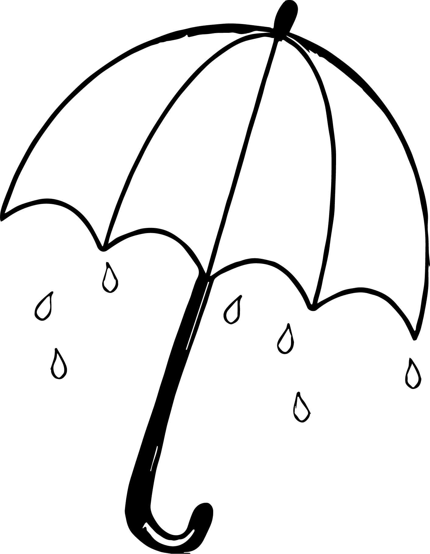 coloring pages umbrella - april shower umbrella coloring page