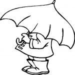 April Shower Umbrella Man Coloring Page