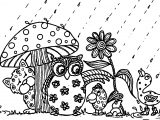 April Showers Bring May Flowers Animal April Coloring Page