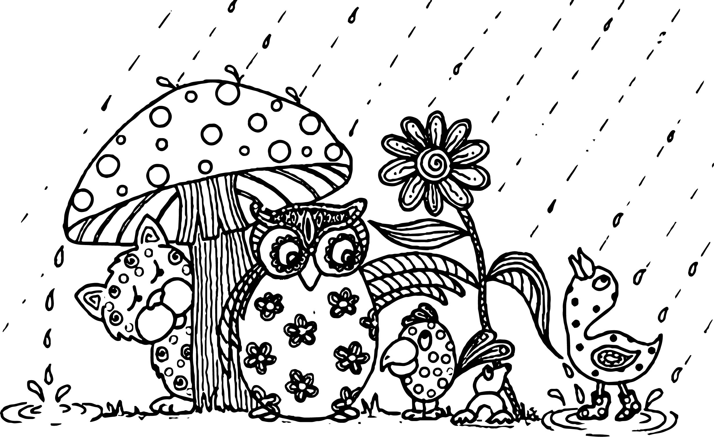 April showers bring may flowers animal april coloring page for May coloring pages printable