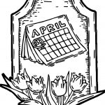 April Tulip Quotes What Great Writers Have Said Coloring Page