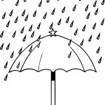 April Umbrella Rain Coloring Page