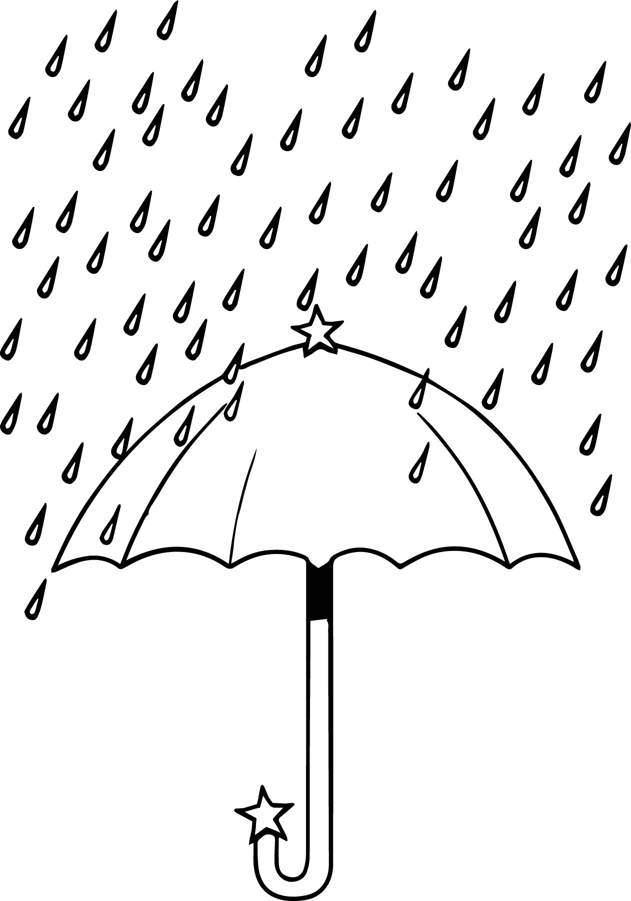 april umbrella rain coloring page wecoloringpage