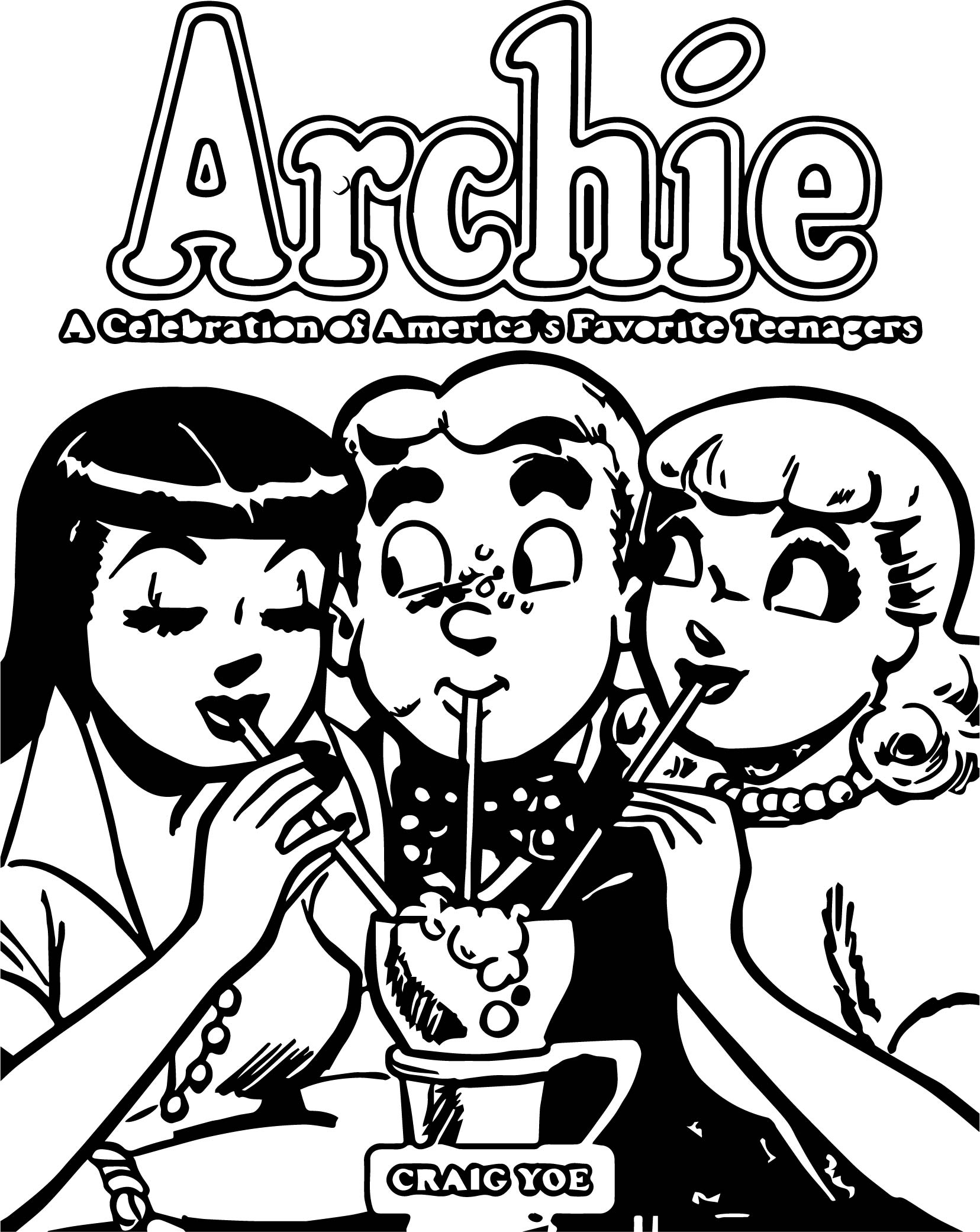 Archie Celebration Coloring Page
