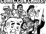 Archie Comic Con Chaos Coloring Page