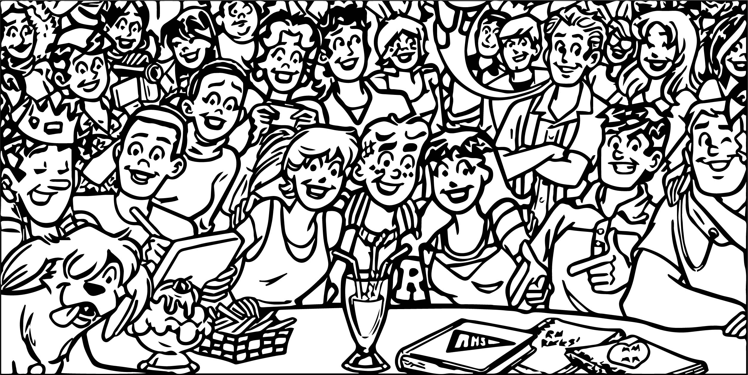 Archie Comics All Coloring Page