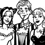 Archie Comics Friends Shake Drink Coloring Page