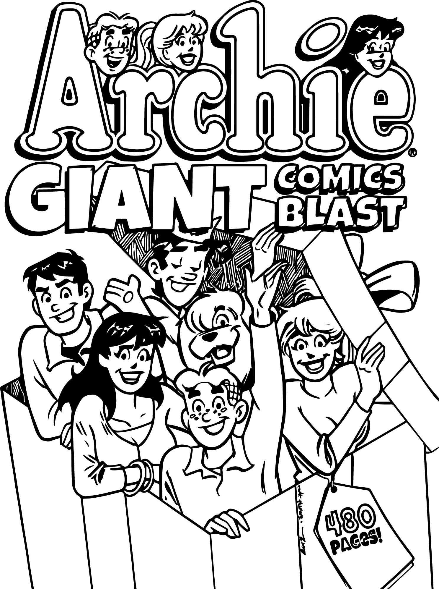 Archie Comics Giant Coloring Page