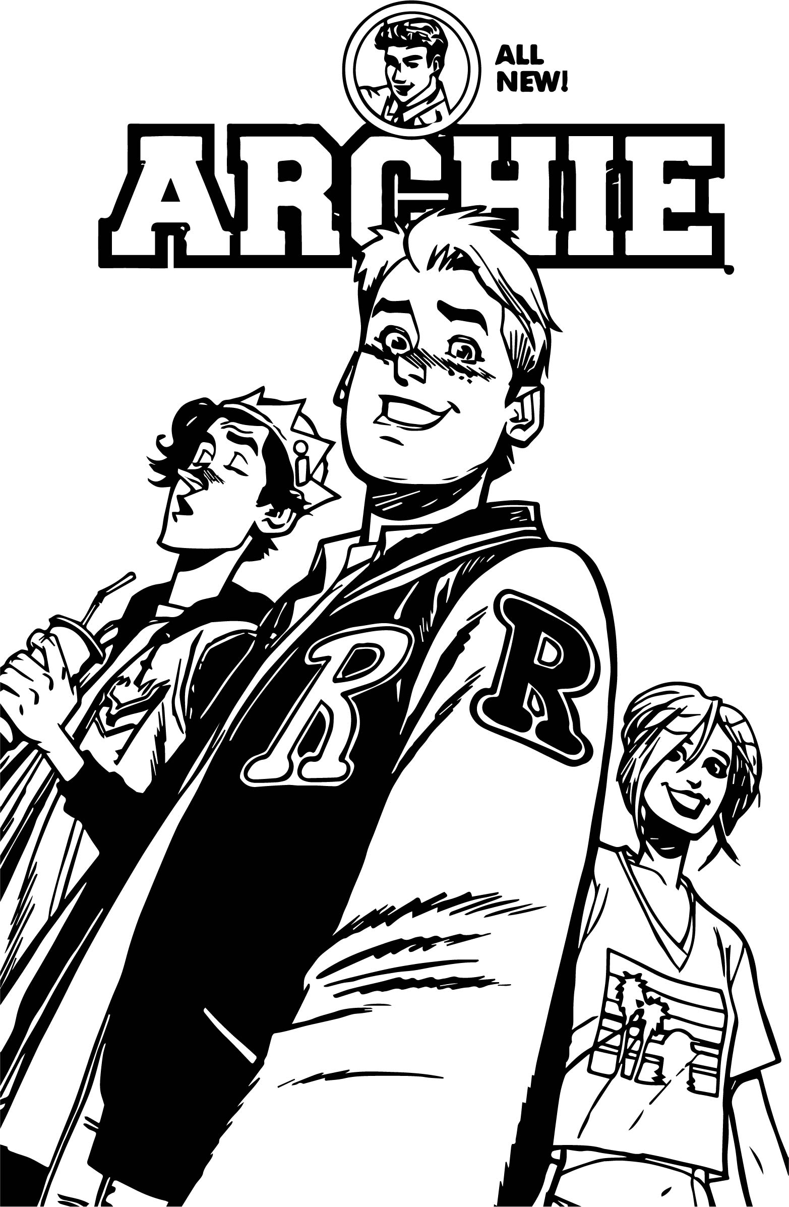 Archie Comics New Coloring Page