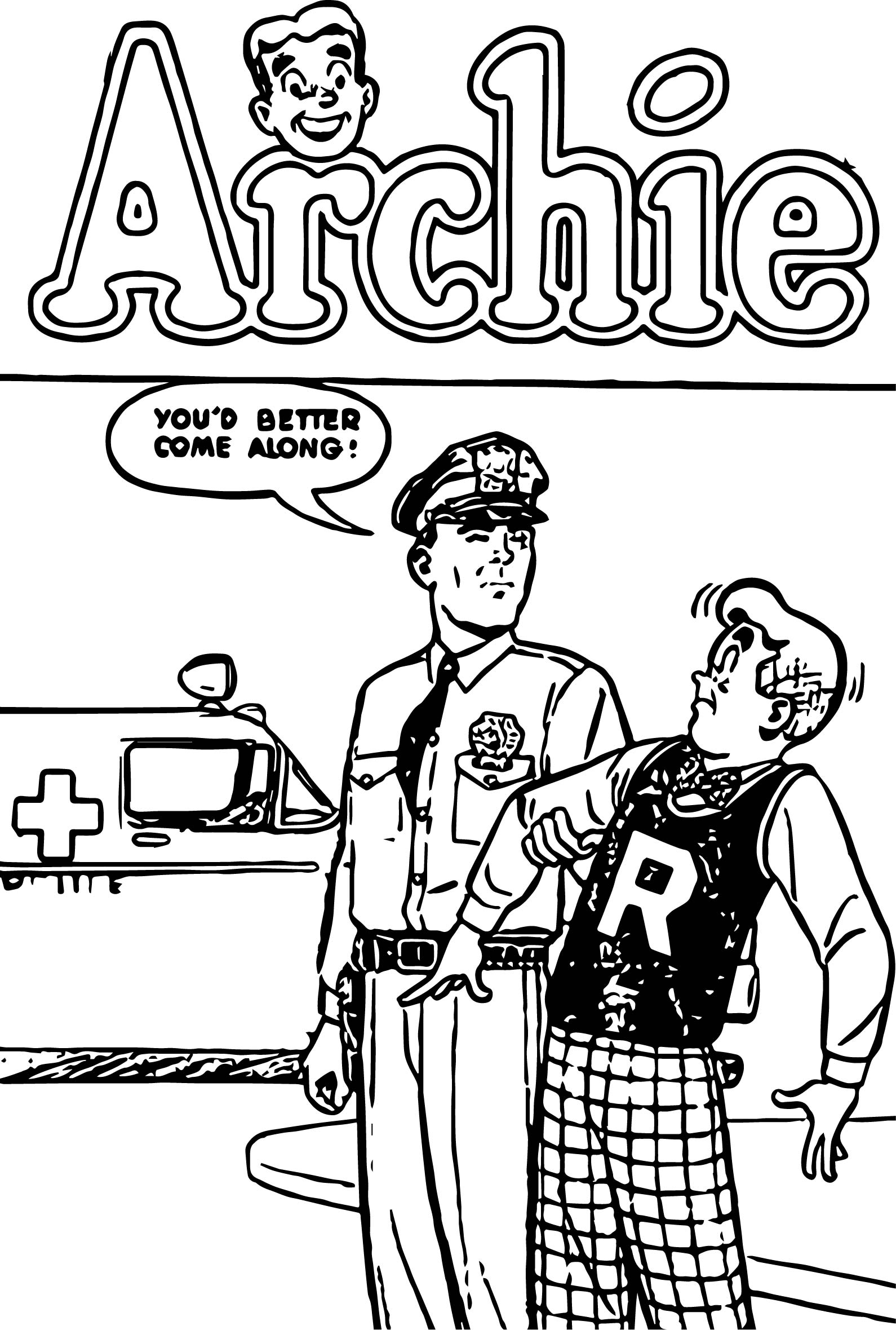 Archie Comics Police Coloring Page
