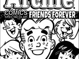 Archie Comics Spectacular Friends Forever Coloring Page