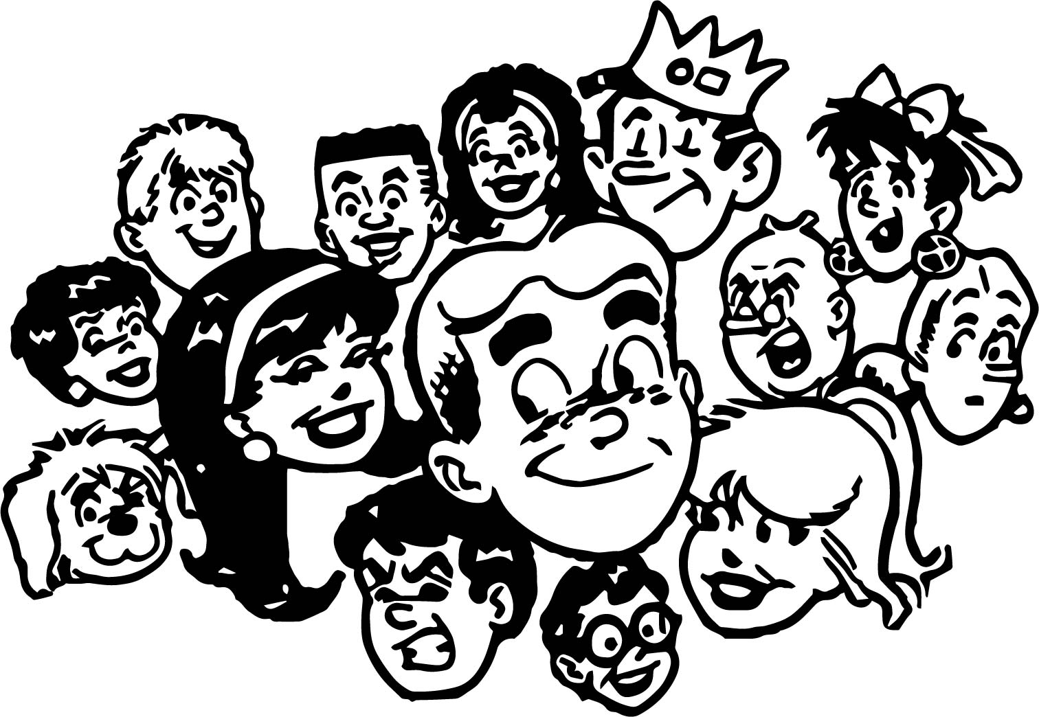 Archie Friends Archie And Friends Coloring Page