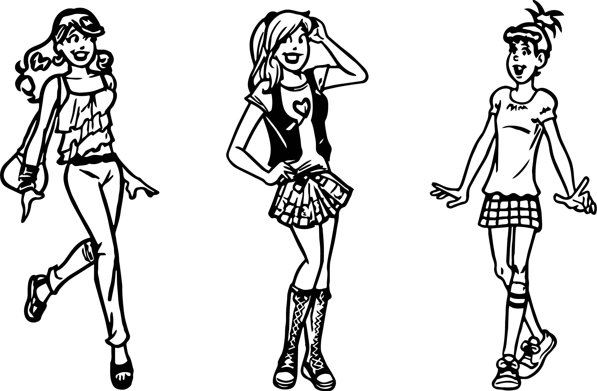Archie Gal Girls Coloring Page