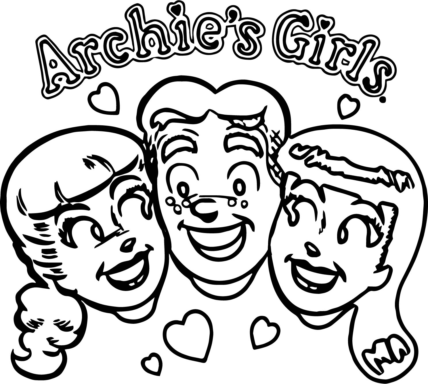 Archie Girls Comics Coloring Page