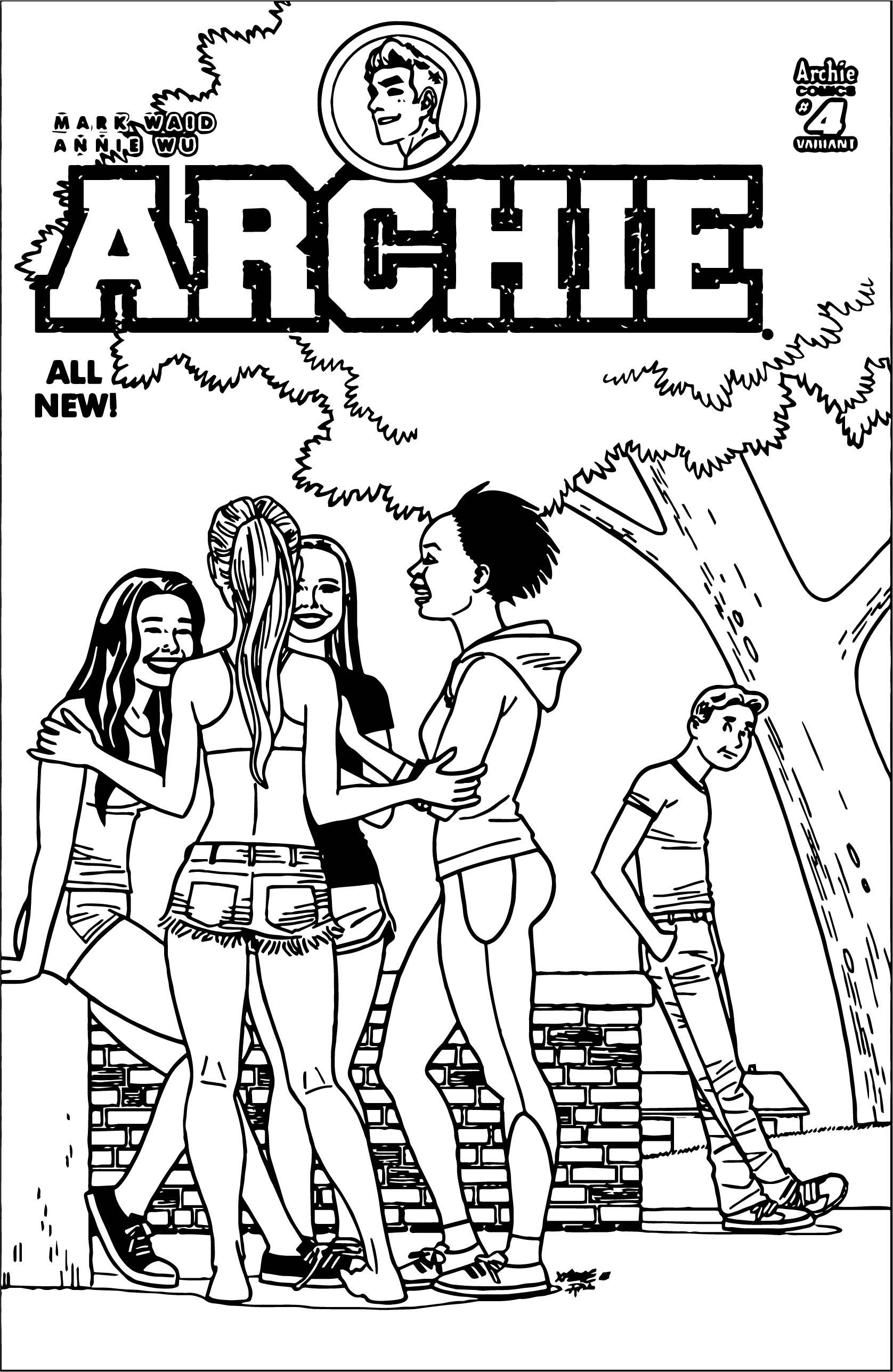 Archie Hernandez Var Hi Girls Coloring Page