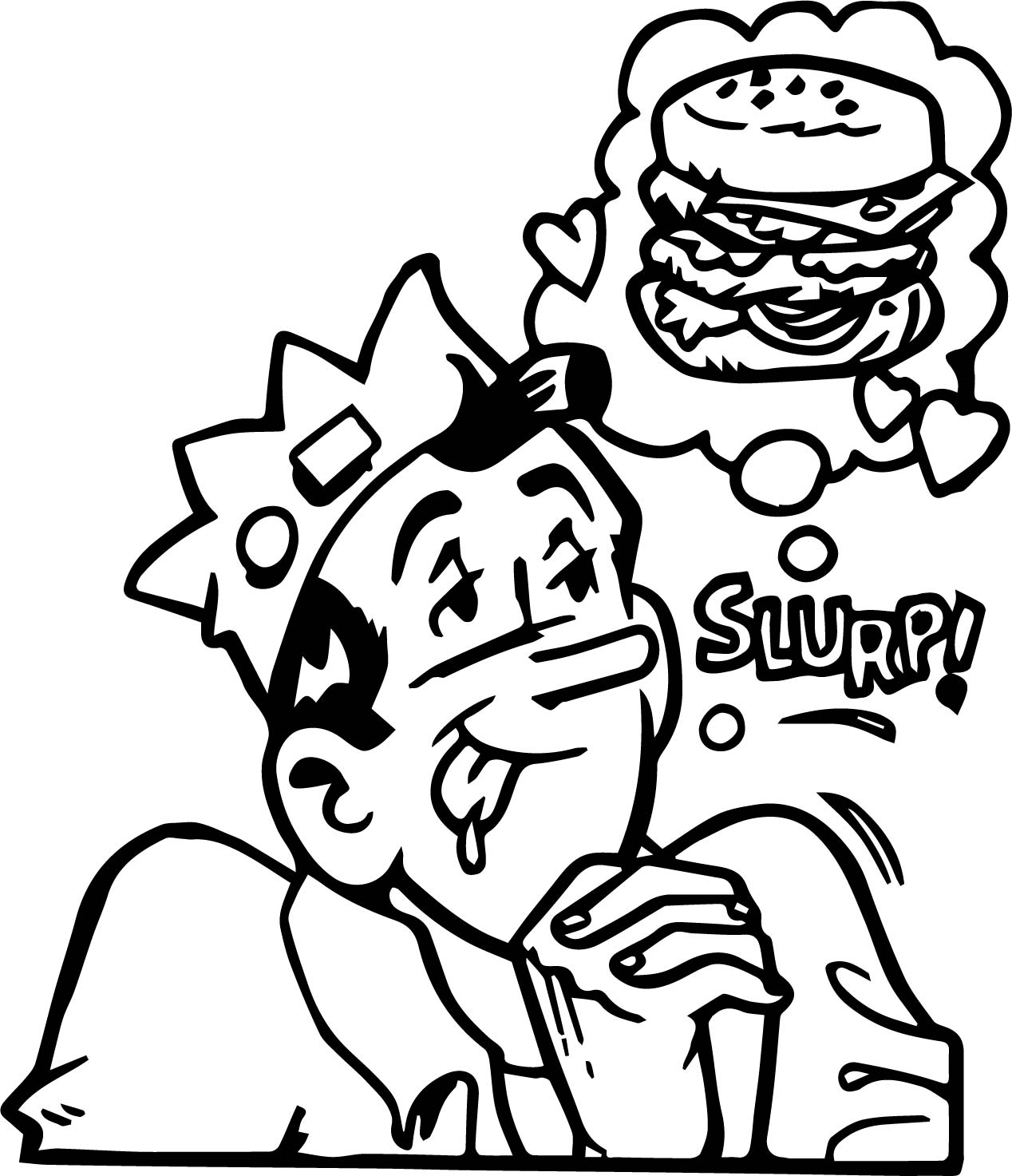 Archie Horizontal Large Gallery Coloring Page
