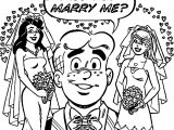 Archie Marry Me Coloring Page