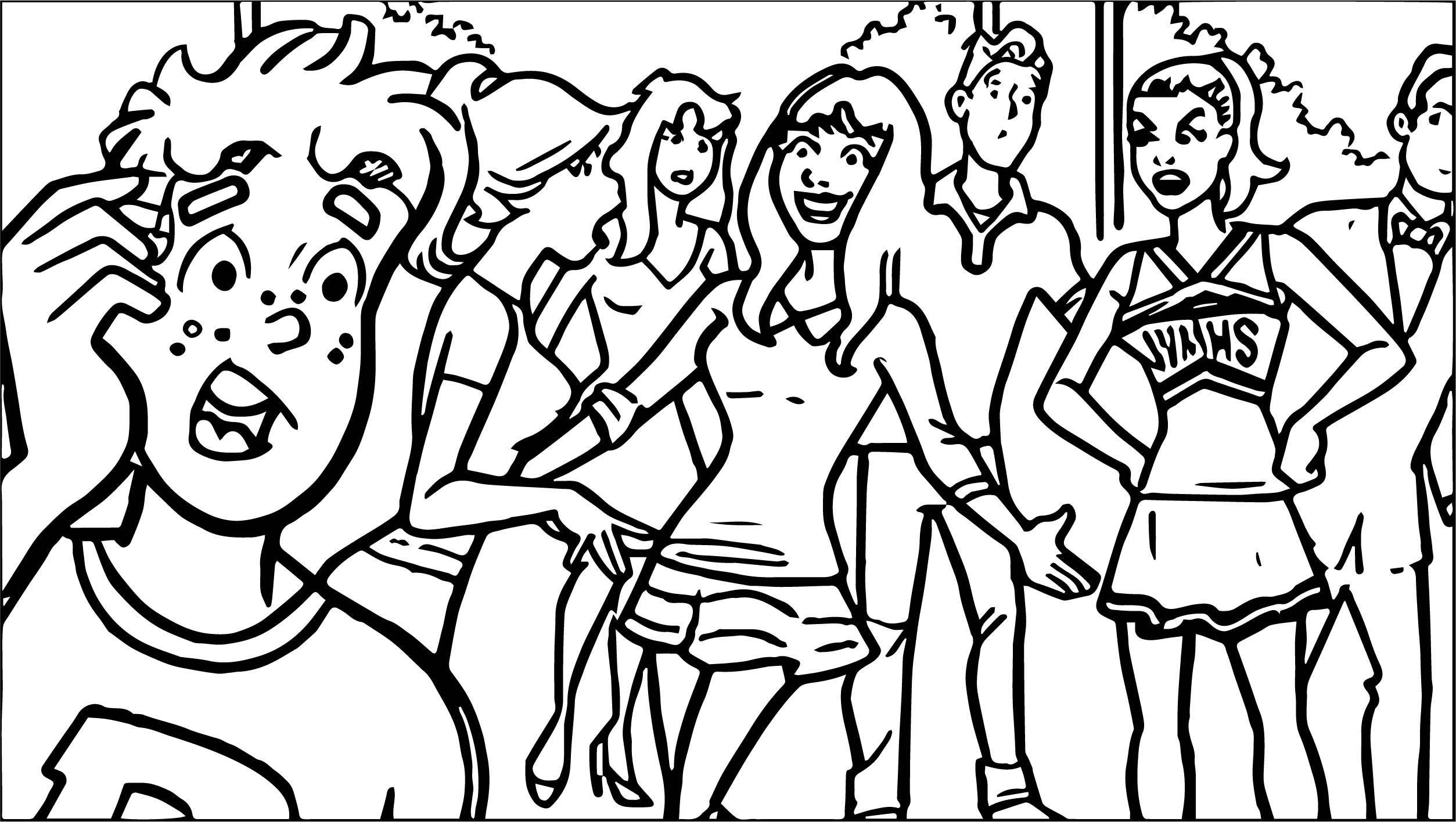 Archie Meets Glee Coloring Page