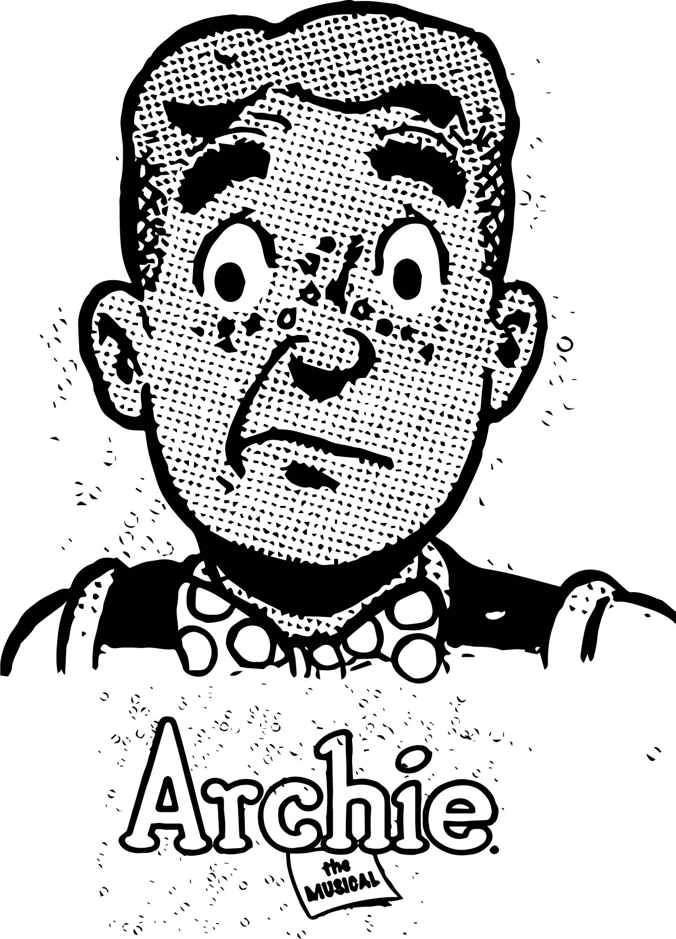 Archie Musical Pop Art Coloring Page