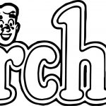 Archie Second Logo Coloring Page