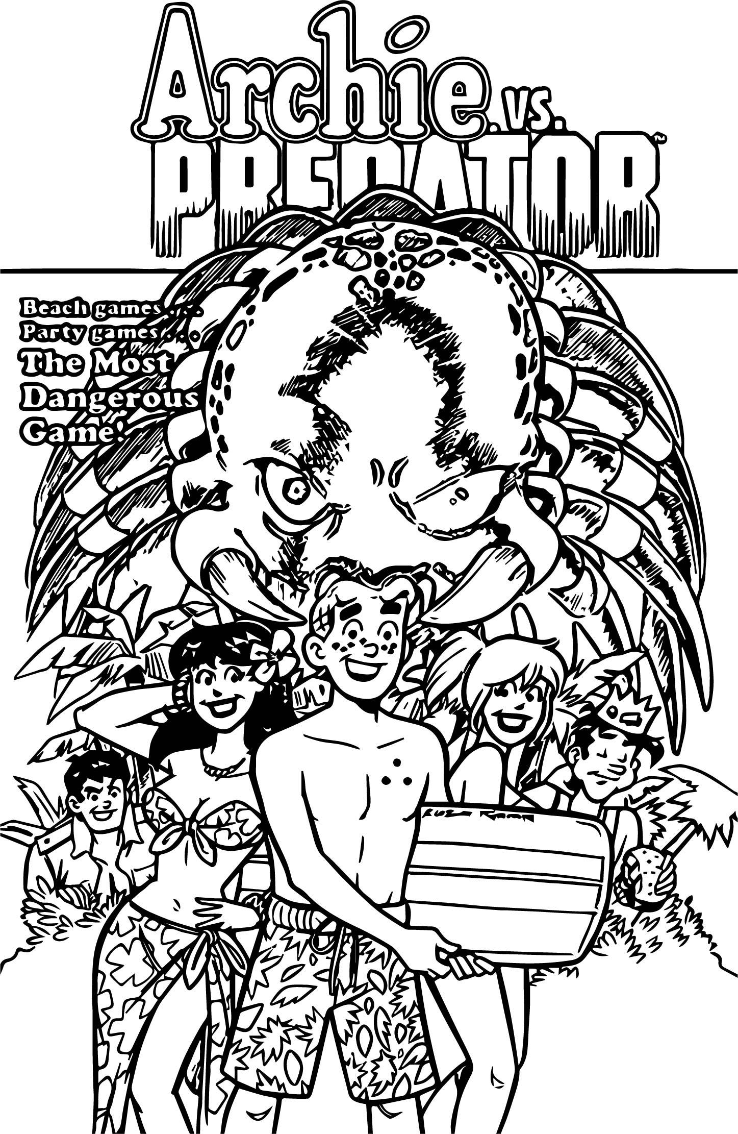 Archie V Predator Coloring Page