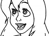 Ariel Mermaid Smile Face Coloring Pages