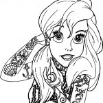 Ariel Mermaid Tattoo Coloring Page