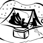 Art King Camping Night Coloring Page
