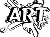 Art Logo Coloring Page