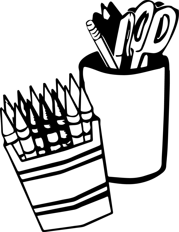 Art Pencil Coloring Page