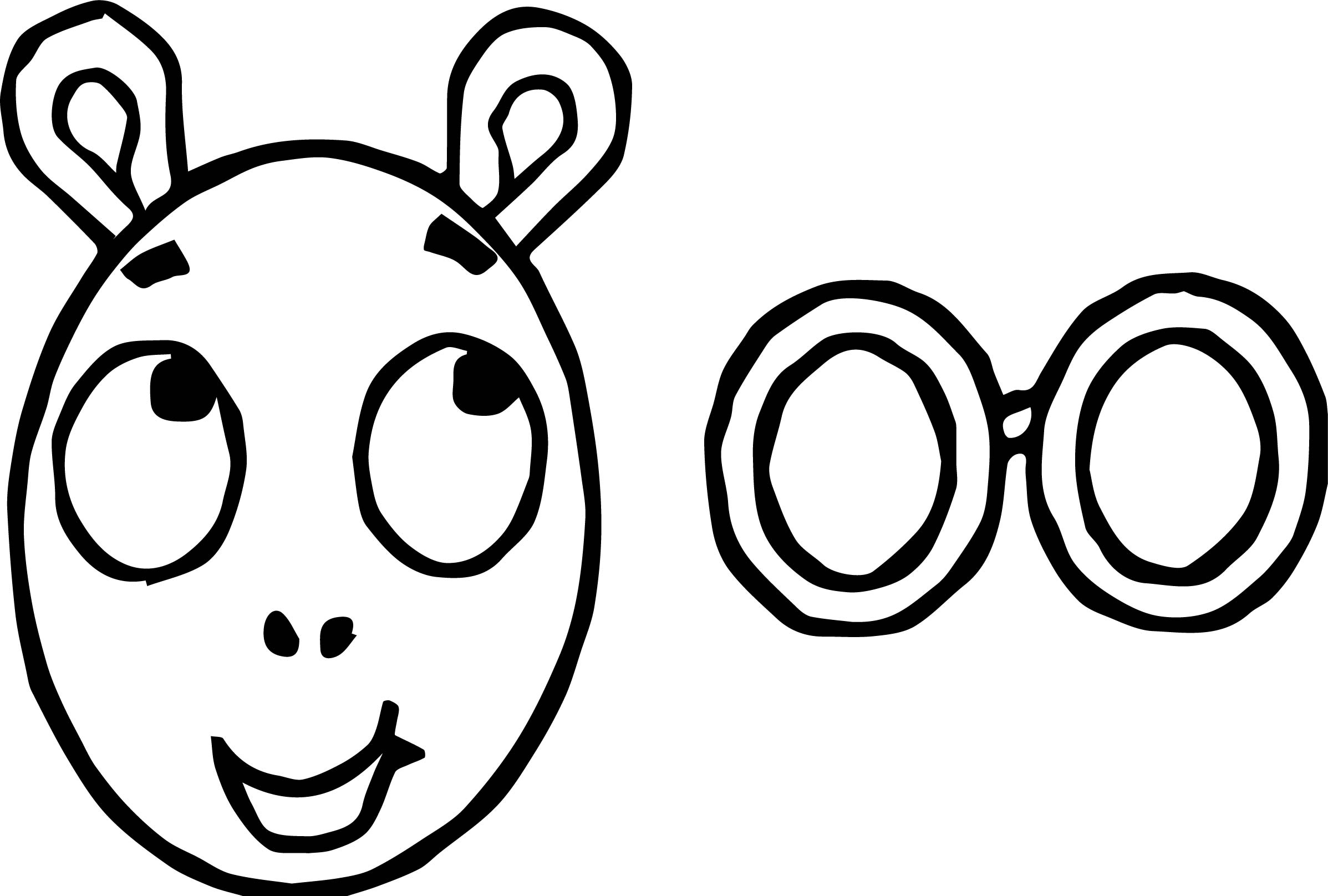 Arthur And Glasses Coloring Page