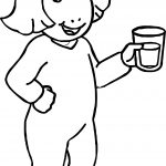 Arthur DW Read Pajamas Glass Of Water Coloring Page