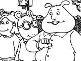 Arthur Friends Me Coloring Page