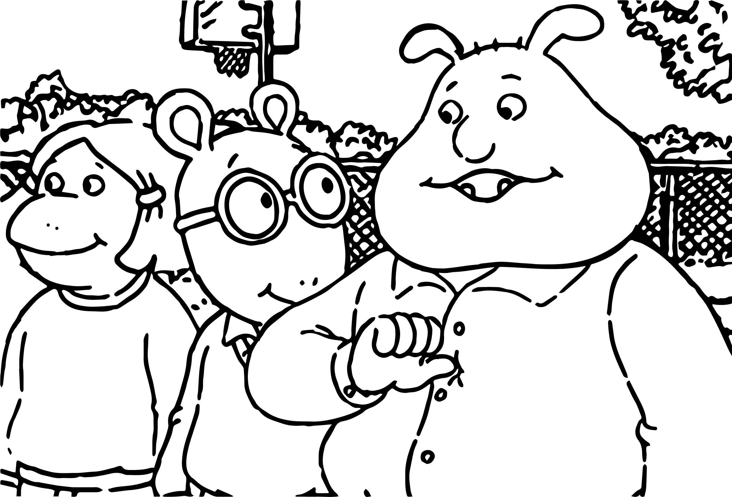coloring pages arthur and friends - photo#11