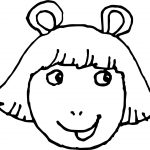 Arthur Girl Mask Coloring Page