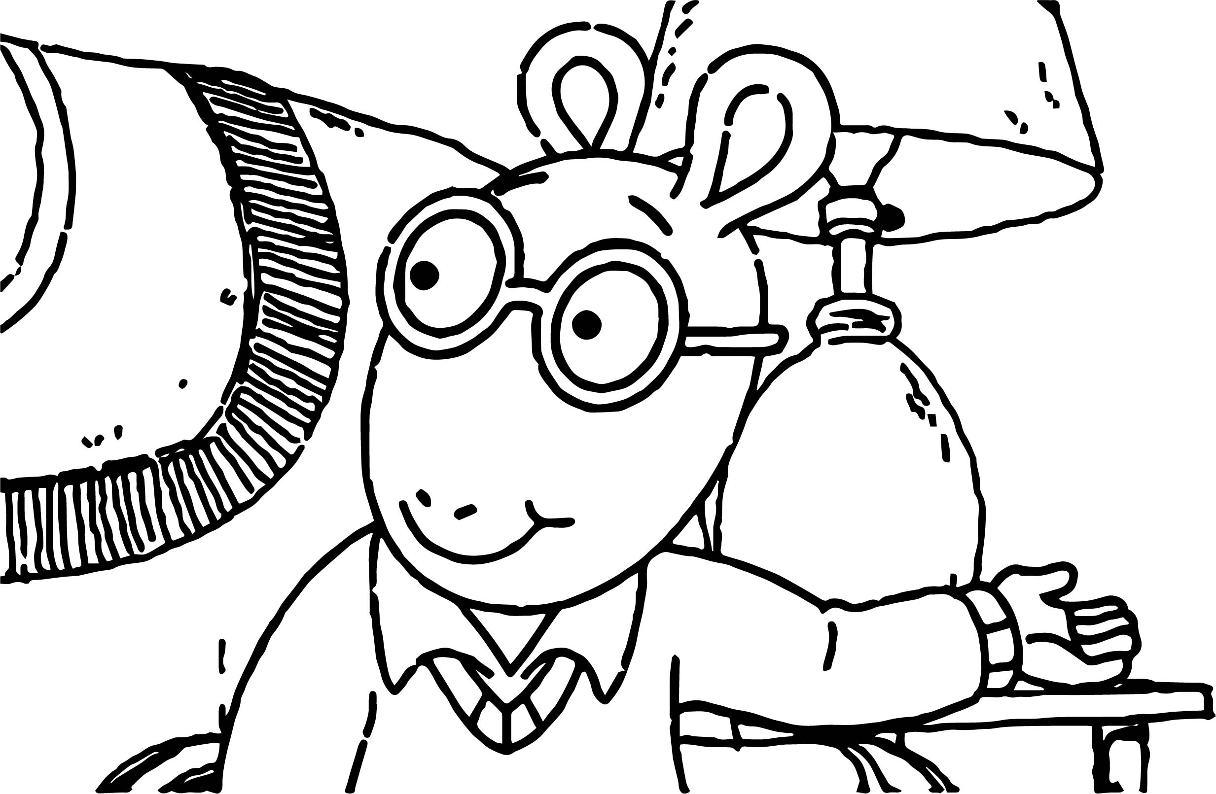 Arthur give coloring page for Giving coloring pages